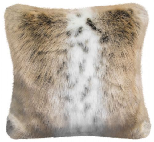 Luxury Faux Fur Sofa Scatter Cushion Super Soft Arctic Cosy Cuddly Feel, 56cm x 56cm, Fox Fuax Fur
